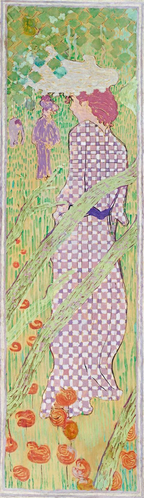 donne in giardino donne in giardino donna in abito a quadri arte