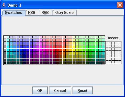 java color codes custom grayscalepanel picker tab color chooser 171 swing