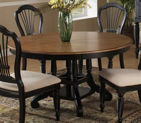 Hillsdale Wilshire Round Oval Dining Table Rubbed Black