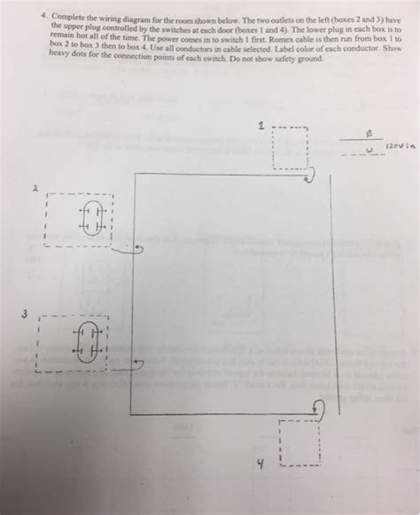 Solved Complete The Wiring Diagram For Room Shown Bel