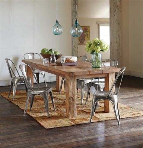 table ancienne et chaises modernes wood dining table decor 10 the minimalist nyc