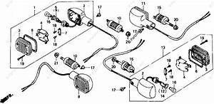 Honda Motorcycle 1986 Oem Parts Diagram For Turn Signal