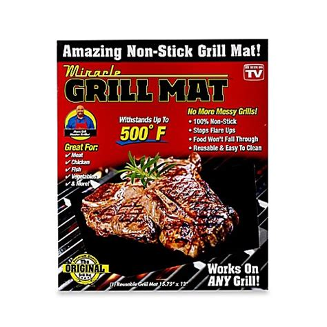 grill mat as seen on tv miracle grill mat bed bath beyond