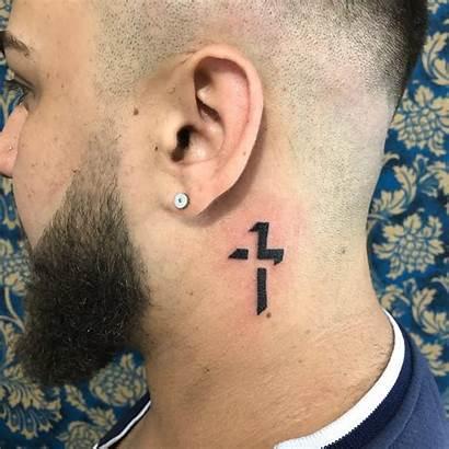 Cross Tattoo Tattoos Neck Designs Ear Behind