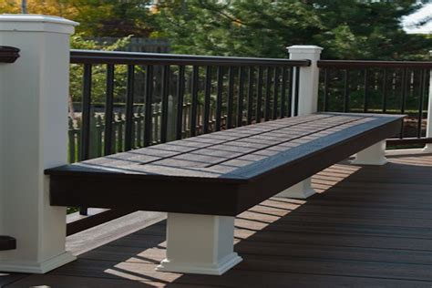 trex deck bench libertyville rock solid builders