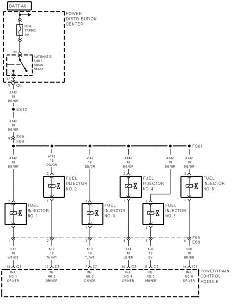2003 3 8 Mitsubishi Wire Diagram by I Need The Diagram For The Fuel Injector Harness For A