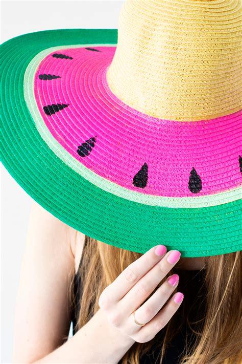diy watermelon floppy hat studio diy