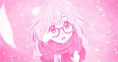 Anime Beyond Boundary Aesthetic Pink Mirai Kuriyama