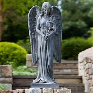 Alfresco, Home, Standing, Angel, Garden, Statue