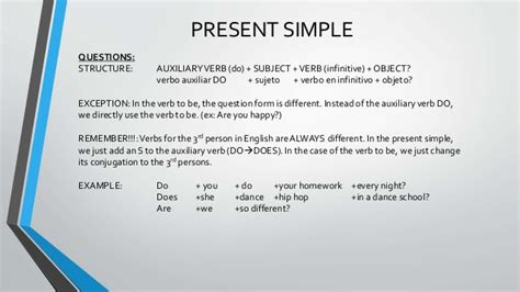 Present And Past Simple And Continuous For Spanish Learners