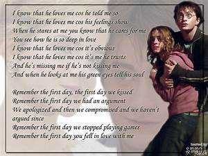 Harry Potter images HARRY AND HERMIONE - I LOVE YOU ...