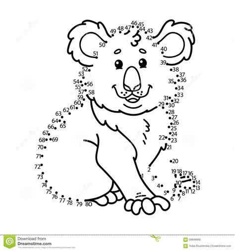 dot to dot koala game stock vector image 59846666