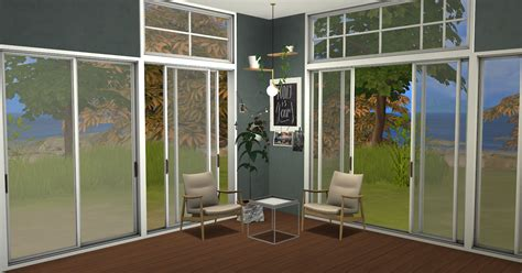 Sims 4 Cc's  The Best Sunset Windows And Doors By Minc78