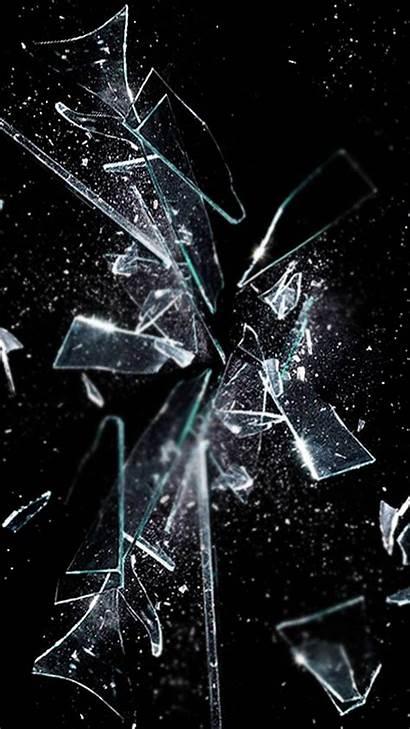 Broken Screen Iphone Plus Glass Mirror Shattered
