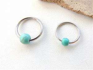 Turquoise Beaded Cartilage Earring Cartilage Earring Body