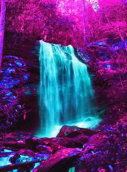 Waterfall Water Dualvoidanima Void Glitch Aesthetic Doggi