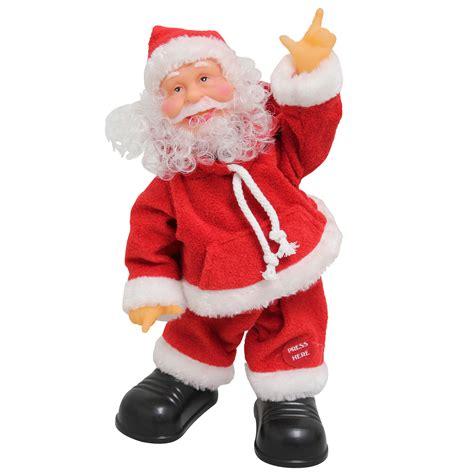 singing santa claus dancing christmas decoration xmas