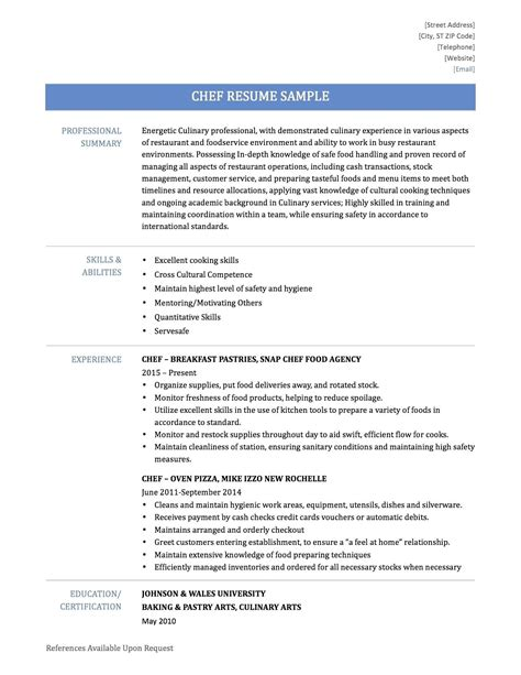 Executive Chef Resume Template by Executive Chef Resume Template Sarahepps