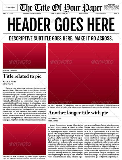 editable newspaper template docs newspaper template free best template idea