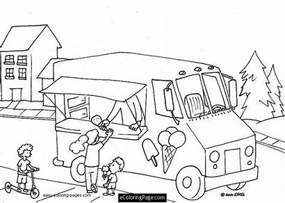 Ice Cream Coloring Truck Pages Parlor Printable