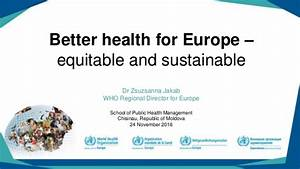 Better health for Europe - equitable and sustainable