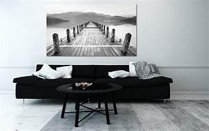 Tableau Deco Noir Et Blanc : quel cadre d co au dessus d un canap noir ~ Teatrodelosmanantiales.com Idées de Décoration