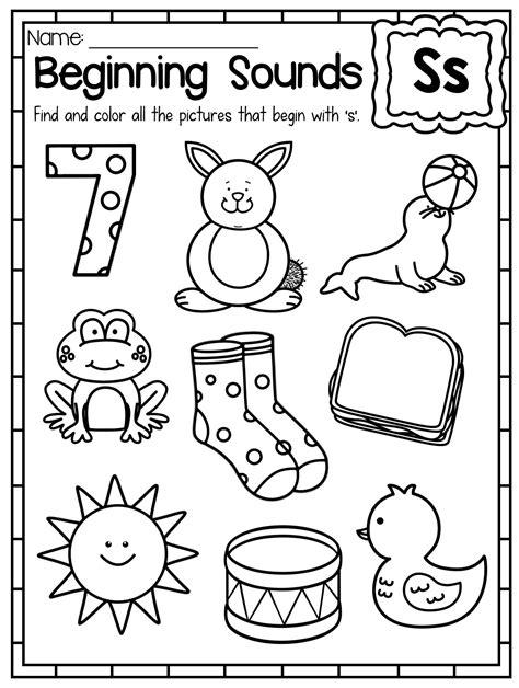 beginning sounds worksheets color  sound beginning