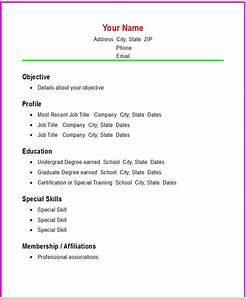 basic resume templates basic chronological resume With basic resume template