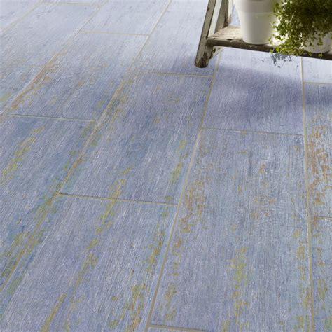 carrelage sol et mur bleu effet bois cuba l 20 x l 60 4 cm leroy merlin