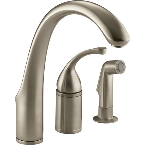 handle kitchen faucet kohler faucet k 10430 g forte brushed chrome one handle