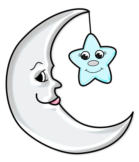 Sun Moon Stars Images Cute Moon With Star Transparent Png Picture Gallery Yopriceville High Quality Images And
