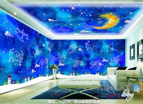 constellations moon ceiling entire living room