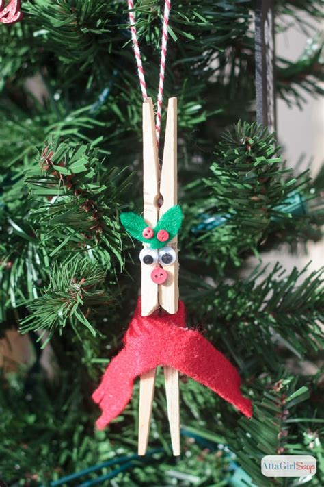 diy reindeer clothespin ornaments tgif  grandma  fun