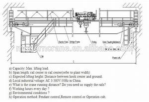 Electrical Overhead Crane Price Diagram