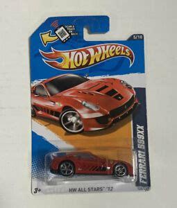 ferrari xx hw  stars  red car sealed hot wheels