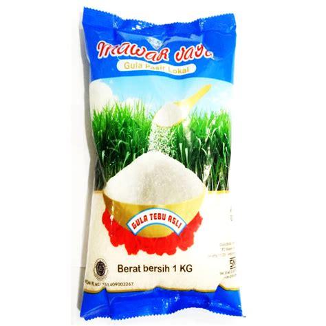 Gula Putih Lokal 1kg mawar jaya gula pasir lokal 1kg shopee indonesia