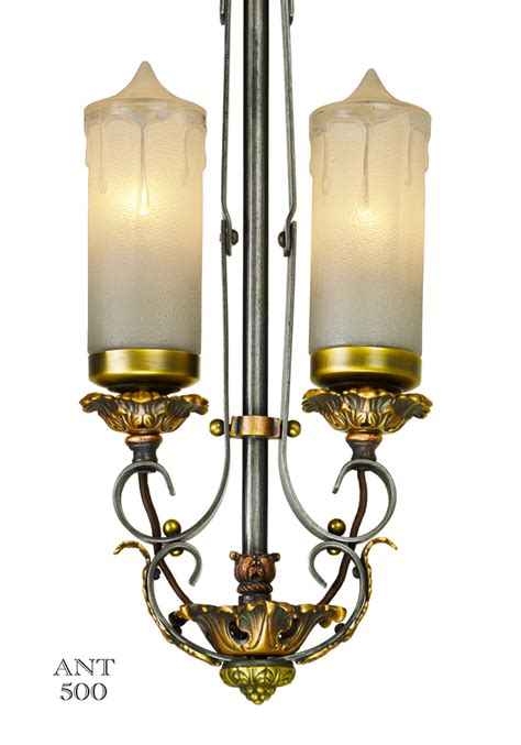 vintage hardware lighting  art deco candle style