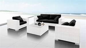 Salon Rotin Exterieur : mobilier jardin ~ Teatrodelosmanantiales.com Idées de Décoration