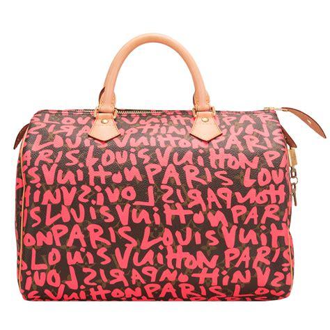 louis vuitton fuchsia pink monogram graffiti speedy  worlds