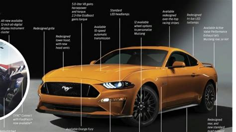 2018 Ford Mustang Specs Mustang Gt Horsepower, 0 60