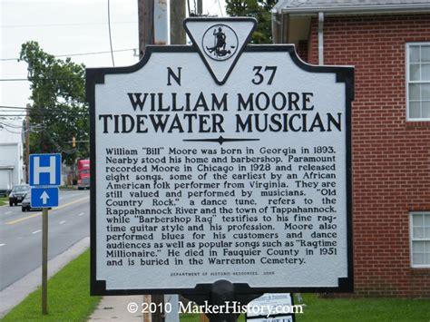 William Moore–tidewater Musician Marker, N-37