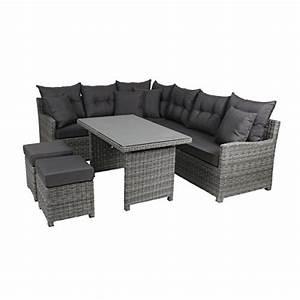 schwarz lounge sets und weitere gartenmobel gunstig With französischer balkon mit garten lounge xxl