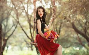 Most Beautiful Girl With Flowers HD Wallpapers – One HD ...