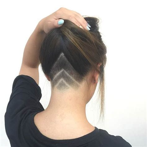 trendy undercut styles  bold women nape undercut