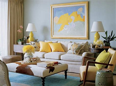 Brown Blue And Yellow Living Room Ideas Modern House, Blue