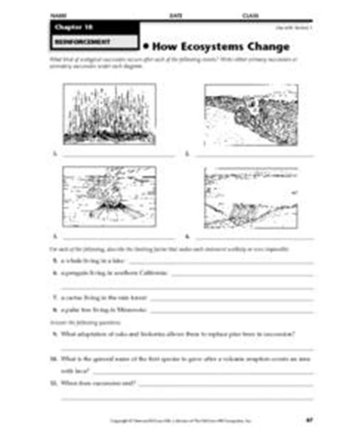 how ecosystems change 4th 8th grade worksheet lesson planet