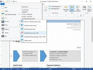flow type layout reporting With document automation word
