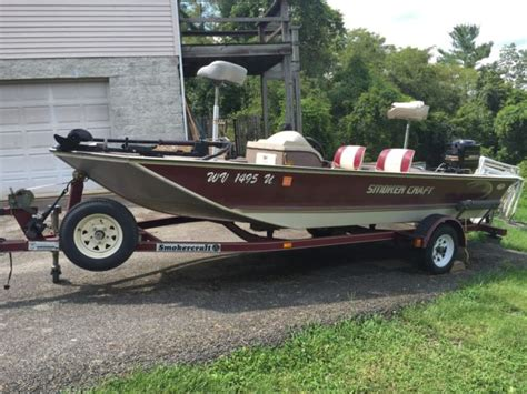 Fishing Boat And Trailer by 1999 Smoker Craft 16ft Bass Fishing Boat Trailer 60hp