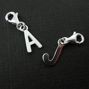 sterling silver letter charms a z letter pendant charm With letter charms