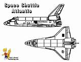 Coloring Space Shuttle Atlantis Boys Yescoloring Nasa Spaceship Sheet Spectacular sketch template